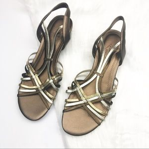 NWOT St. John's Bay Neural Colored Strappy Sandals
